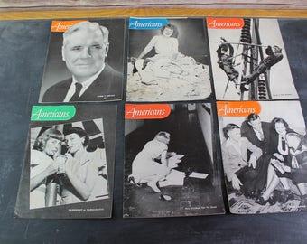 6 Vintage American Magazines, 1940's Chicago Magazines