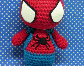 Spider-Man amigurumi style PDF crochet pattern inspired by siperman home coming