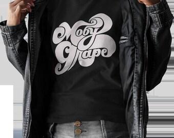 Moby Grape  T shirt screen print short sleeve  black shirt cotton
