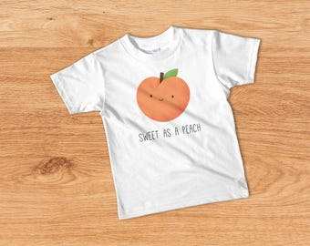 Sweet as a Peach, Cute Toddler Girl Outfits, Girls Tee, Kids T-shirt, Cute Toddler Tee, Toddler T-shirt, Funny Toddler Tshirt, Gift For Kids