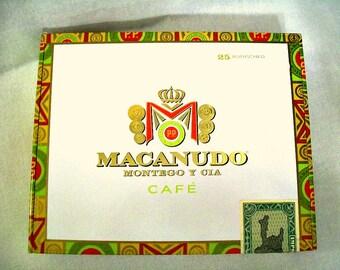 Cigar Box for crafting, purses, supplies  - MACANUDO -  Rothschild  - Empty Box