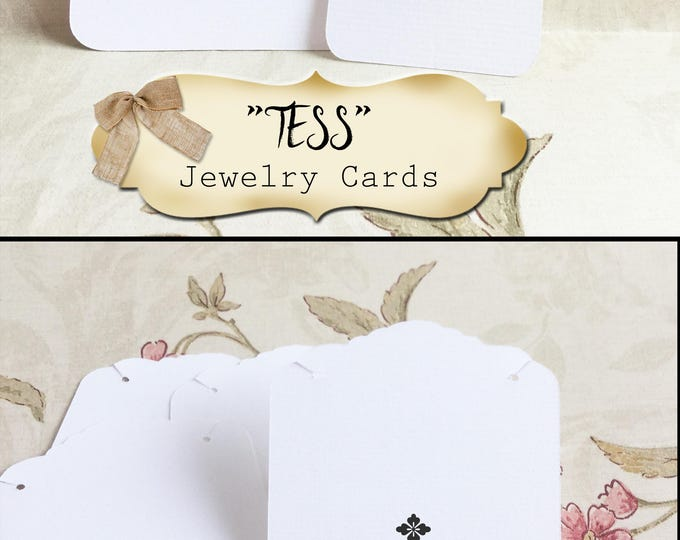 24•TESS•Necklace and Earring Cards•Jewelry Cards•Necklace Card•Display•Earring Holder•Necklace Holder