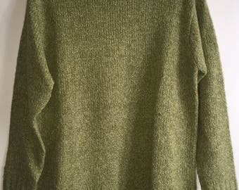 Vintage Women's Cable Knit Sweater By Carolyn Taylor Size Small Green RN#92054