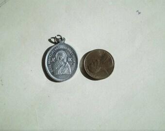 Notre Dame du Perpetuel Secours & St. Alphonse Marie de Liguori - Vintage French Medal or Pendant - Oval - Our Lady of Perpetual Help