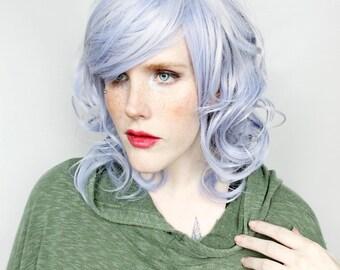 SALE Purple wig | Short Purple wig, Curly Pastel wig, Long Bob wig, Lob wig | Wavy Pastel wig, Scene wig, Halloween wig | Lilac Moon