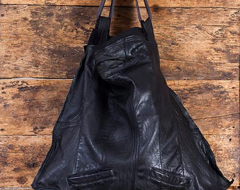 black leather bag #1
