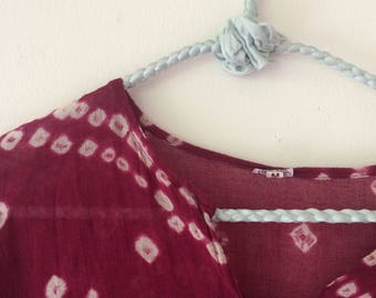 Handmade Authentic Indian Tie-dyed Bhandni Shirt