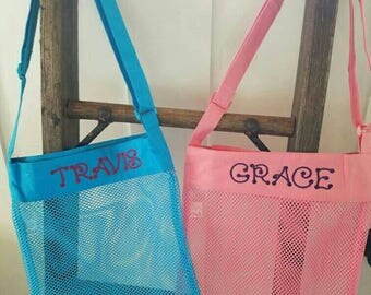 Personalized Shell Collecting Beach Bags