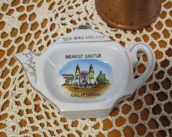 Vintage Hearst Castle California Tea Bag Holder