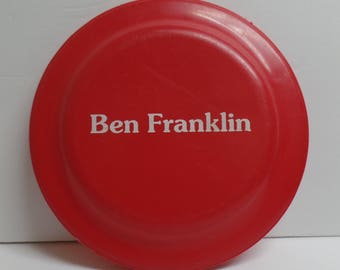 Vintage Been Franklin Humphrey Flyer Advertising Frisbee