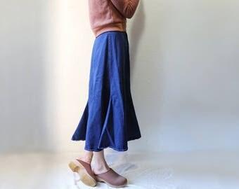 Vintage Denim Panel Skirt