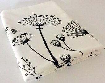 Table Cloth/ Field of Flowers/ Standard size/Organic Cotton/ Handprinted/ Ready to Ship