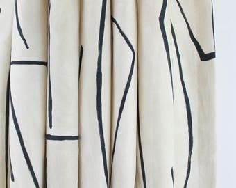 Kelly Wearstler Graffito Drapes (Shown in Linen/Onyx-comes in 5 colors)