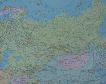 Soviet Union Map Print Vintage