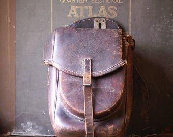 Vintage Leather Saddle Bag- Ranch, Lodge, Equestrian Decor