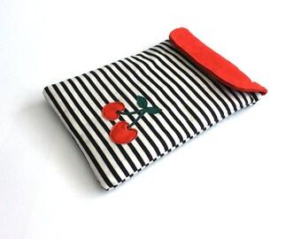 ipad mini sleeve - ipad mini case - ipad mini cover- Retro cherries