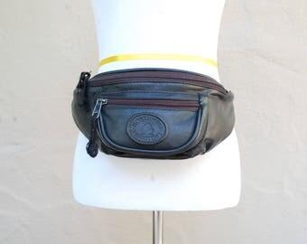 Vintage Northwest Territory Faux Leather Vegan Unisex Fannypack Belt Bag Daypack Pouch ID Holder Purse Waist Bag Biker Moto Bag Hipster