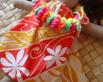 Hula Baby white orange yellow 14inches