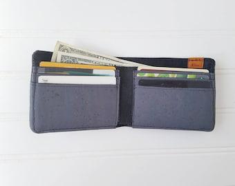 Grey Cork Mens Wallet