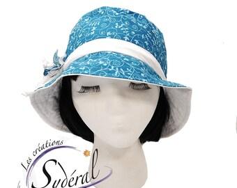 Ladies summer coton hat, beach hat, travel hat, women summer hat, sun hat,