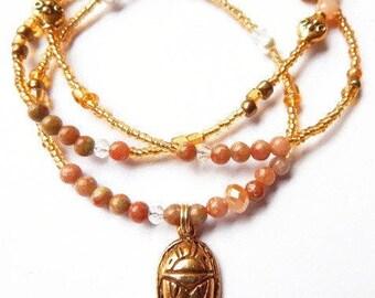 Waist Beads, Jasper Scarab Ancient Egyptian Waist Beads, African Waistbeads, Scarab Belly Chain, Kemet Waist Beads