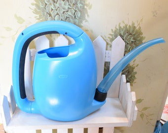OXO Watering Can, Plastic watering can, large watering can, Garden decor, Blue water can