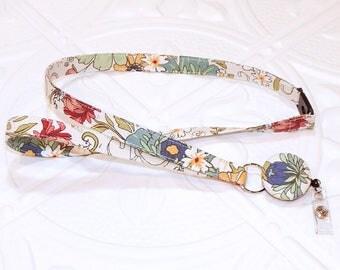 Lanyard - Id Badge Holder - Id Holder - Key Lanyard - Teacher Lanyard - Floral Fabric Lanyard - Breakaway Retractable Badge Lanyard