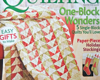 American Patchwork and Quilting Magazine December 2008, Issue 95 Quilt Patterns