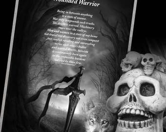 WOUNDED WARRIOR - Original Poetry,Digital Download, Book of Shadows, Scrapbook, Wicca, Pagan, Witchcraft, White Magick, Witch,Magick Spell