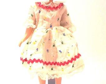 "Vintage Deluxe Reading PENNY BRITE 10"" Doll Blonde Short Hair Rickrack Sun Dress"