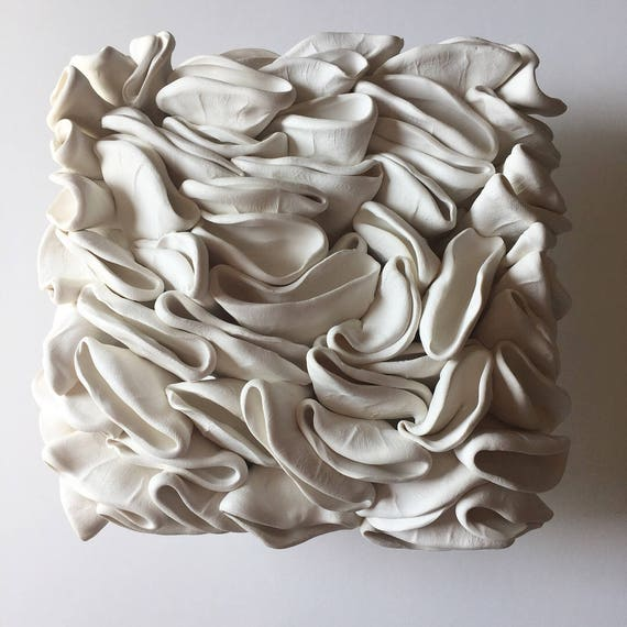Folded Clay Wall Tile Sculpture