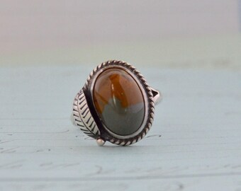 Vintage Navajo Agate Ring - Size 5 3/4