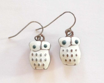Owl Dangle Earrings Pierced Cutest Ever Fun
