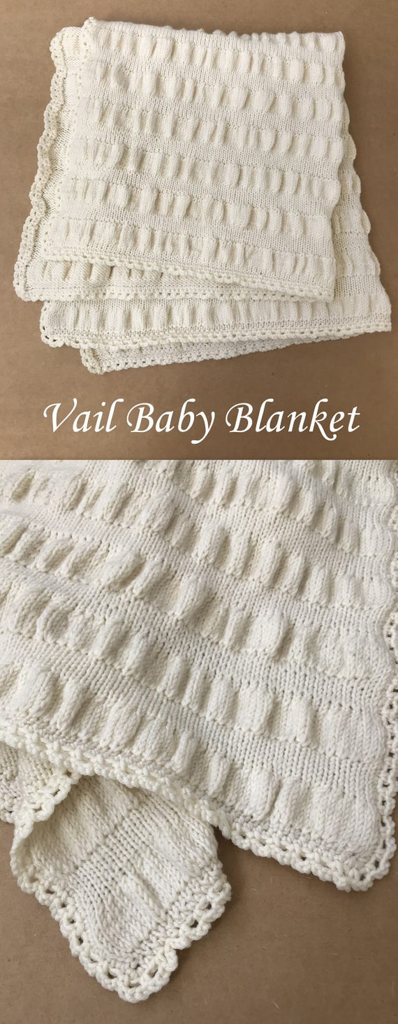 Knit baby blanket pattern ruffle baby blanket vail baby knit baby blanket pattern ruffle baby blanket vail baby blanket easy knitting pattern by deborah oleary patterns knit baby bankloansurffo Choice Image