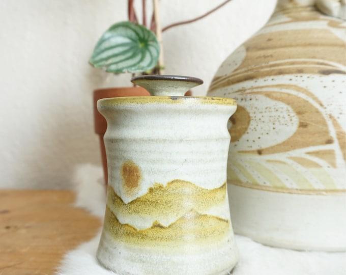 Vintage 1981 Ceramic Sun Landscape Sugar Jar