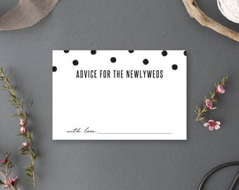 Instant Download - Advice for the Newlyweds Card - Chelsea Collection