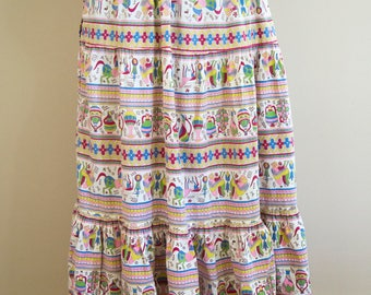 50s 60s Fruit of the Loom Egyptian print skirt size small