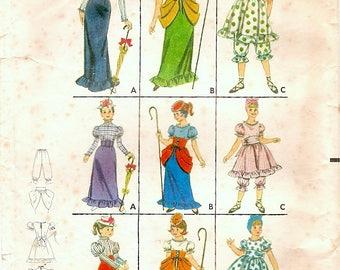 Sweet Vintage 1960s Butterick 3273  Girls Gay Nineties Bo Peep Costumes Sewing Pattern Sz 14 B32