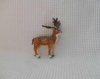 Deer Figure Stag Plastic Bambi Deer Reindeer Supply Craft assemblage Autumn winter Festive