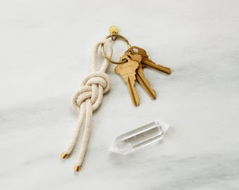 "knotted cotton key chain / figure 8 / ""INFINITY"""