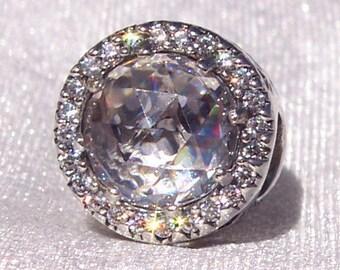 Authentic Pandora, Radiant Hearts, Bracelet Charm, 925 ALE, Sparkles, Like Diamonds, Silver, Crystal, Gift Ideas, Cz Button, FREE SHIPPING