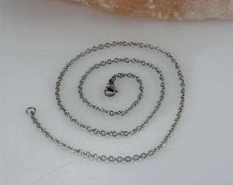 """Stainless Steel Chain 28""""- Stainless Steel Chain Add-on- 2.5mm Stainless Steel Chain- Necklace Chain- Stainless Steel Necklace Chain"""