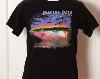 Vintage  80s 90s NIAGARA FALLS New York Tshirt - Kid-U-Not - Small