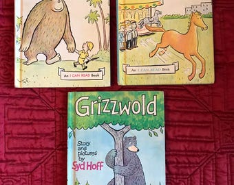 Lot of 3 Vintage I Can Read Books by Syd Hoff - Julius, Chester, Grizzwold Hardcover 1960s