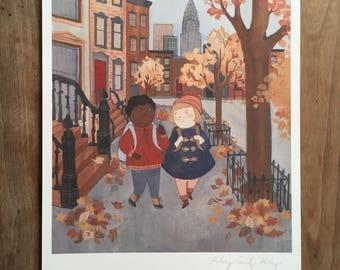 NYC Fall Walk 8.5x11