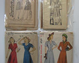 1940s Vintage WW2 Utility Suit Patterns