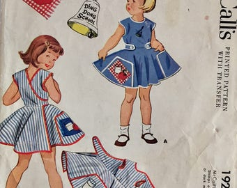 "Vintage 1954 McCall's Girls' Ding Dong School Apron Dress Pattern 1921 Size 6 (24"" Chest)"