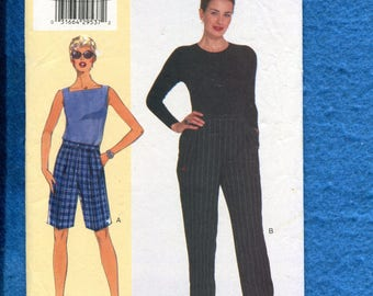 Vogue 7027 Front Pleated Pants & Shorts with Elastic Back Waist Sizes 16..18..20 UNCUT