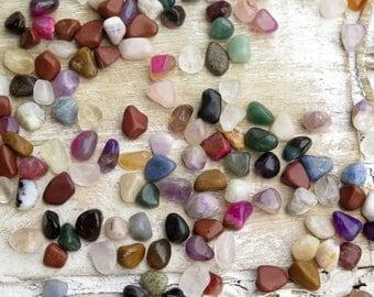 Mixed Tumbled Healing Stones - Small Mixed Polished Stones -  Reiki Healing Stones - Small Gemstone Mix - Tumbled Gemstones - Bulk Stones