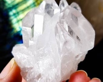 Sweet Crystal Quartz Castle Cluster  || Double Side Terminated